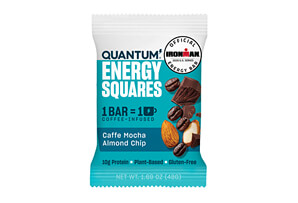 Caffe Mocha Almond Chip Energy Squares w/Caffeine - Box of 10