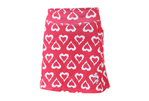 Running Skirts Watermelon Hearts Long Athletic Skirt w/Short - Women's
