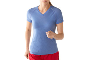 Smartwool PhD Run Short Sleeve V-Neck - Women's
