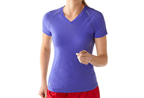 Smartwool PhD Run SS V-Neck - Women's