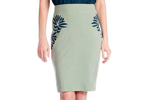 Synergy Leaf Flame Pencil Skirt - Women's
