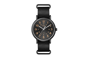 Timex Weekender Leather Oversized Watch