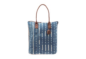 Will Leather Goods Indigo North South Tote