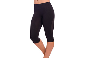 High Waisted Compression Capris - Women's