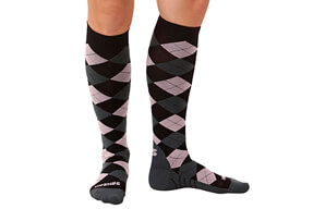 Zensah Argyle Compression Socks - Women's