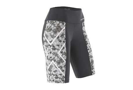 Pattern Mid-Rise Compression Shorts - Women's