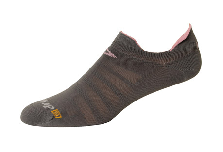 Running Hyper Thin No Show Double Tab Socks