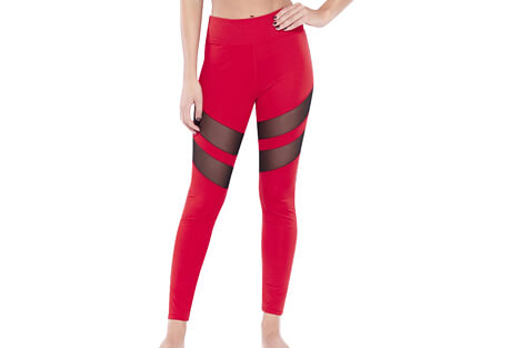 Tummy Tuck Mesh Racer Legging - Women's