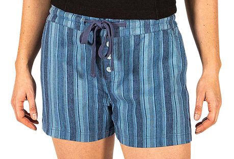 Friend Of The Vine Stripe Drawstring Short - Women's