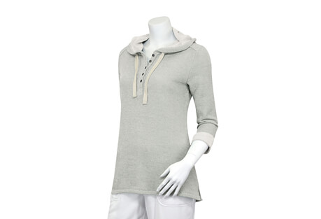 French Terry 3/4 Sleeve Hoodie - Women's