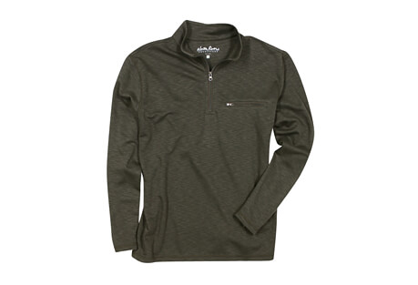 1/4 Zip Mock Neck Long Sleeve - Men's