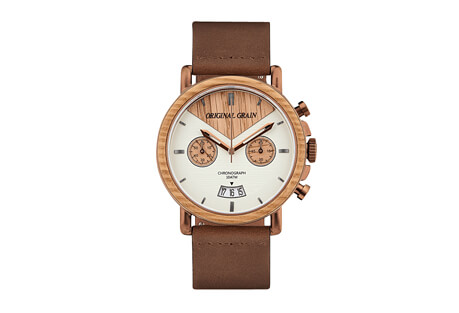 Whiskey Chrono Leather 44mm Watch