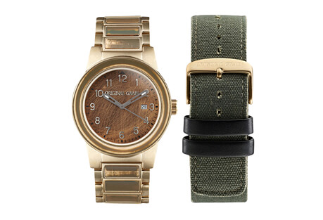 Brigade Military w/Canvas Band Watch Set