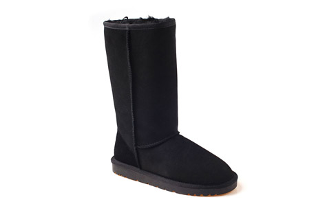 Genuine Sheepskin Tall Boots - Men's