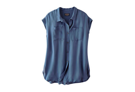 Sleeveless Silk Button-Up - Women's