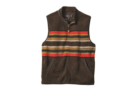 Camp Stripe Fleece Vest - Men's