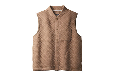 Quilted Knit Vest - Men's
