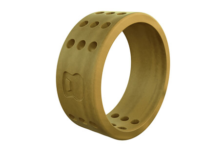 Athletics Gold Perforated Silicone Ring - Men's
