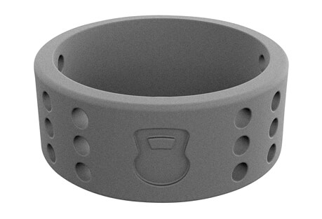 Athletics Smoke Grey Perforated Silicone Ring - Men's