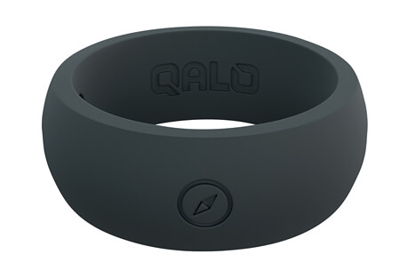 Outdoors Slate Grey Silicone Ring - Men's