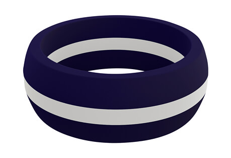 White Line Silicone Ring - Men's