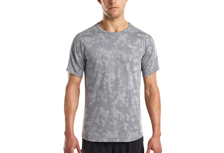 Negative-Split Jacquard Short Sleeve - Men's