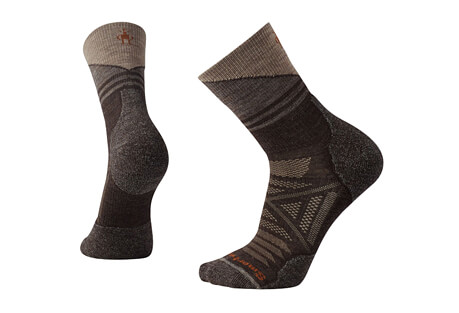 PhD Outdoor Light Pattern Mid Crew Socks