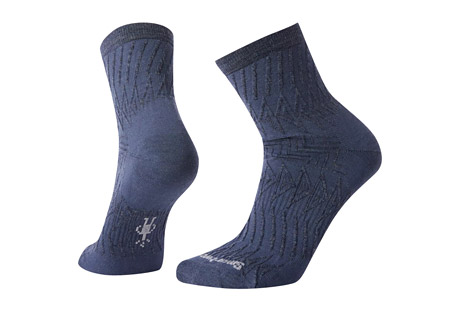 Triangle Texture Mid Crew Socks - Women's