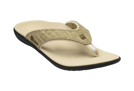 Yumi Gold Canvas Sandals - Women's