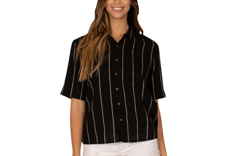 Striped Out Woven Blouse - Women's
