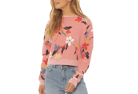 Petal Along Fleece Pullover - Women's