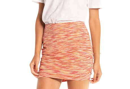 Space Dye Ruched Mini - Women's