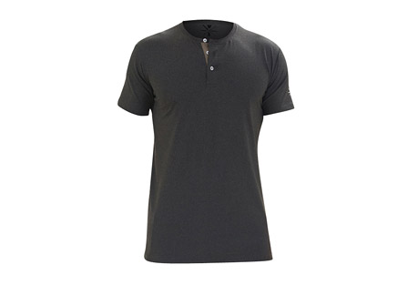 Revolution Short Sleeve Fitness Henley - Men's