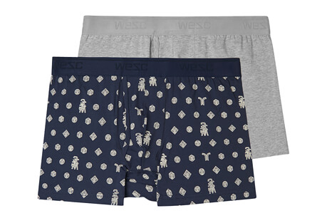 Puzzle Check Boxer Brief 2 Pack - Men's