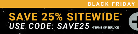 Save 25% off sitewide, offer ends 11/25 7:59AM PDT - Use code: SAVE25