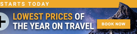 Lowest prices of the year on travel - Book Now